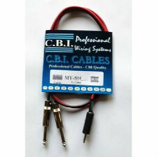 "NEW CBI Male 1/8"" TRS to Dual Male 1/4"" Mono 2 Foot MP3/IPOD/CD Cable MY501-2"