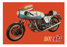 DUCATI Poster 750 Super Sport 1973 1974 Suitable to Frame