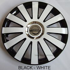 13'' Wheel trims Hub Cups for Nissan Micra 4x13'' black- white