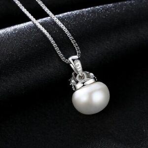 BENIAMINO Damen Kette Anhänger 925er Sterling Silber Süßwasser Perle AAA OVP
