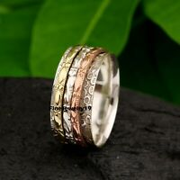 925 Sterling Silver Ring Spinner Ring Meditation Ring Handmade Ring Jewelry A485