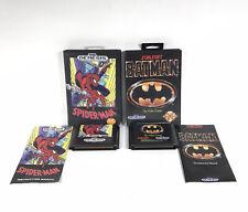Lot 2, Batman: The Video Game & Spiderman (Sega Genesis, 1991) w/ Manual