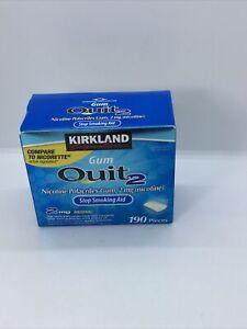 Kirkland Signature Quit 2 mg Gum Nicotine Polacrilex Stop Smoking Aid 190 Pieces