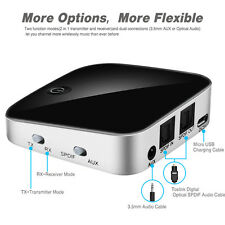 Wireless Bluetooth Audio Transmitter&Receiver 3.5MM RCA Music 2 in1 Adapter A2DP