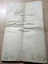 Recognitionsschein von 1878 des Gerichts Borna/Sachsen handgeschrieben+Siegel