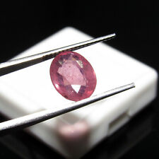3.00Cts Certified Natural Oval Cut Pink Madagascar Ruby Loose Gemstone CH 7594