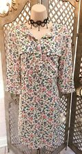 🌹H & M🌹NEW PRETTY DITSY FLORAL POCKET SHIRT DRESS UK 8 SUMMER CASUAL TRENDY