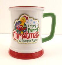 Sesame Place A Very Furry Christmas Elmo Big Bird Coffee Mug Tea Cup 11oz