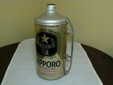 Large Screw Top Sapporo Draft Beer Can With Handle