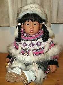 """ADORA LIMITED EDITION 22"""" INTERNATIONAL DOLL MIKI FROM GREENLAND"""