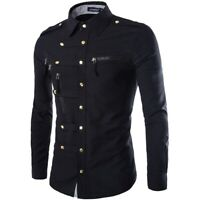 Dress Shirts T Shirt New Blouse Long Sleeve Formal Slim Fit Casual Floral Luxury