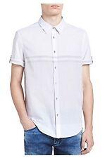 Calvin Klein Jeans Horizontal Stripe Short Sleeve Shirt - X-Large