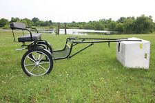 Frontier Equestrian Mini horse WIDE BODY easy entry cart GO FAST Wheels FENDERS