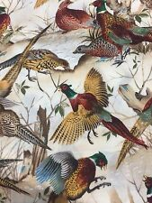 Pheasants Birds Timeless Treasures Cotton Fabric Quilt Sew OOP BTY
