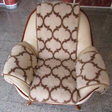"""Sesselschoner """"Oriental"""" Sesselauflage Sitzauflage Überwurf, beige mit Muster"""