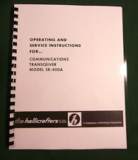 """Hallicrafters Sr-400A Instruction Manual: 11"""" X 24"""" Foldout Schematic Included!"""