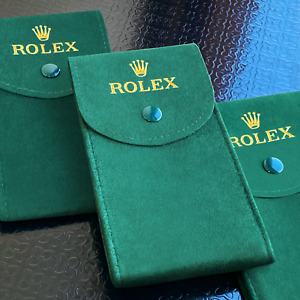 Rolex Green Travel Service Pouch with Insert — Fast US Shipping