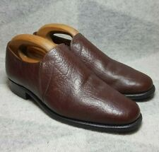 Hampton Slip On Shoes Size 7.5 EE Brown Leather Mens Shoes