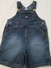 Old Navy Baby Denim Blue Jeans Overalls Shorts Bibs Girls Toodler Size 2T