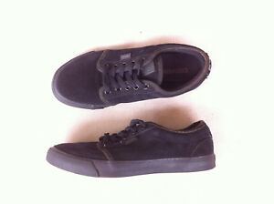 CONVERSE ALL STAR BLACK SUEDE LEATHER LACE UP'S SIZE: 8.5W/7M US
