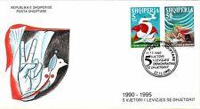 Albanian Stamps 1995. Democratic Movement. FDC Set Mich. 2587-2588