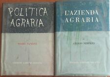 Politca agraria, l'azienda agraria - Bandini, Serpieri - Agricole,1958 - A