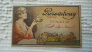 Antique BROADWAY NEEDLE ASSORTMENT BOOKLET Style 1000