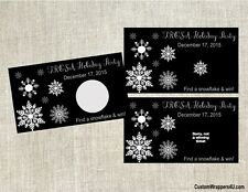 Snowflakes Winter Holiday Birthday Party Scratch Off Tickets Game Cards Favors