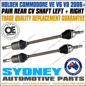 PAIR REAR CV DRIVE SHAFTS HOLDEN COMMODORE VE V6 & V8  2006-2013 LEFT+RIGHT