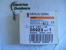 MERLIN GERIN 3 AMP RCCB ON OFF AUXILIARY SWITCH 415V 26923 MULTI 9
