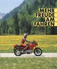 Prospekt BMW Motorrad 1989 Mehr Freude am Fahren Fahrschüler Fahrschulausbildung