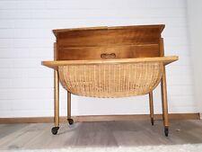 Teakholz Nähtisch vintage sewing table mid century design 60er Danish Korb