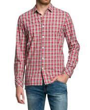 Rot Medium BOGNER Jeans Karohemd Camicia Uomo (melange Check 10782) (bcv)