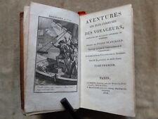 AVENTURES LES PLUS CURIEUSES DES VOYAGEURS,...BLANCHARD.4 volumes.32 Gravures