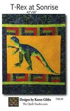 T-Rex at Sunrise TQS29 Dinosaur Childrens Quilt Studio Applique Pattern