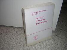 1960.la terre et  la faim des hommes / Bonnefous.SP + envoi autographe.bon ex.