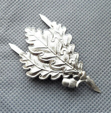 WW2 GERMAN ARMY SNIPER OAK LEAF METAL CAP BADGE-H014