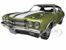 1970 CHEVROLET CHEVELLE SS 454 CITRUS GREEN 1/18 LTD TO 1500 AUTOWORLD AMM1028