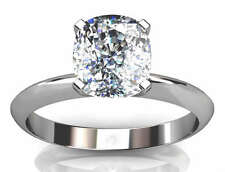 1.00Ct CUSHION CUT ENGAGEMENT RING 14K SOLID GOLD
