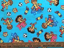 Cotton Quilt Fabric Team Dora Diego Soccer Star BTHY