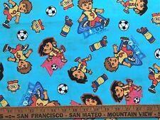 Cotton Quilt Fabric Team Dora Diego Soccer Star BTHY