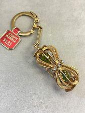 Vintage  JOSEPH WARNER  GREEN DICE  GOLD FASHION KEYCHAIN  Good Luck Casino  NEW