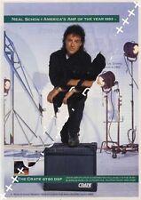 Journey Neal Schon UK 'Guitarist' Trade Press advert