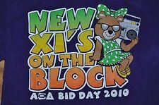 T-SHIRT SMALL ALPHA XI DELTA SORORITY NEW XI'S ON THE BLOCK BID DAY 2010