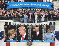St Vincent & Grenadines 2017 MNH Donald Trump 45th US President 4v M/S I Stamps