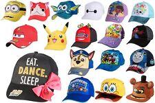 Children Kids Character Baseball Cap Adjustable Boy/Girl/Unisex Hats BRAND NEW!