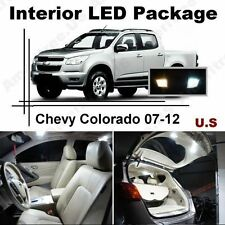 White LED Lights Interior Package Kit for Chevy Colorado 2007-2012 ( 9 Pcs )