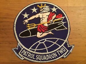 """WW2 US NAVY PATROL SQUADRON TWO ORIGINAL 5"""" JACKET PATCH"""