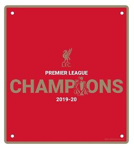 Liverpool FC Premier League Champions 2019/20 Metal Sign Official LFC Reds Gift