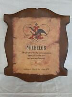VINTAGE MICHELOB BEER ANHEUSER BUSCH WALL PLAQUE SIGN
